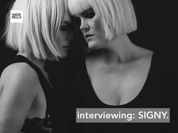 interviewing SIGNY.
