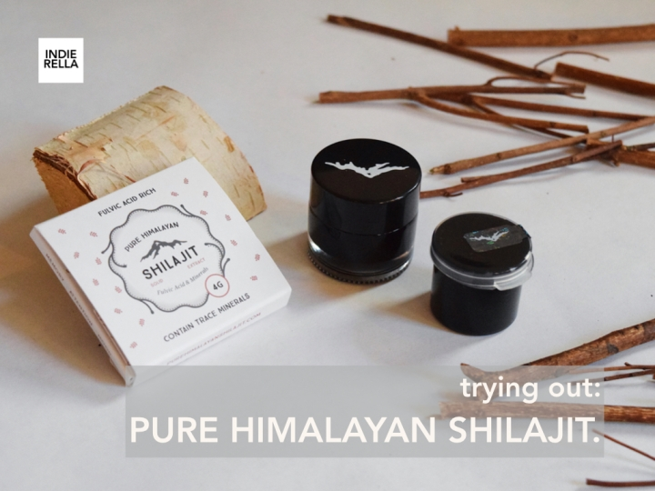 trying out: PURE HIMALAYAN SHILAJIT.