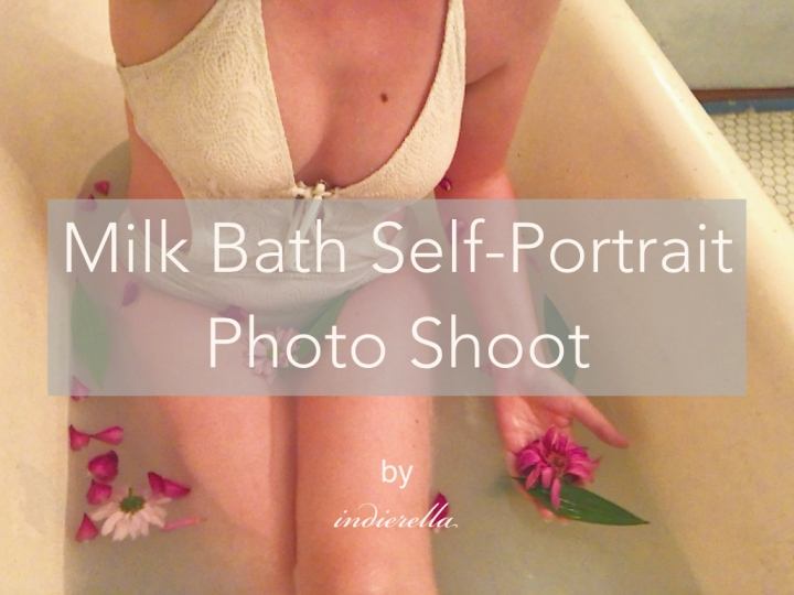 Milk Bath Self-Portrait Photo Shoot